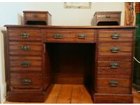 Old-Fashioned, Solid Wooden Desk