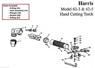 Harris 62-3 62-5 Cutting Torch Rebuildrepair Kit