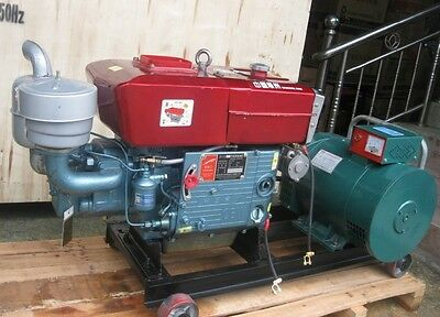 Brand New 5000w 5kw Diesel Powered Generator Free Ship To Worldwide