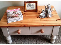Shabby Chic Solid Pine Coffee Table (hand-Painted in Farrow & Ball) Free delivery within Swindon