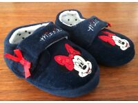 Minnie Mouse, toddler slippers size 4-5