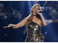** x2 CELINE DION TICKETS FOR SALE- 20TH JUNE- FACE VALUE **