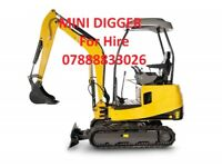 Mini Digger to Hire!