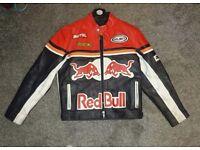 Mens leather jacket motorbike racing