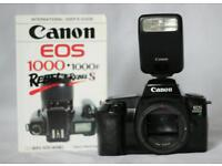 Canon EOS 1000f SLR Camera Complete with Canon Speedlite Flash