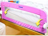 Tomy Pink Kids Bed Guard Rail – fits single divan & slatted beds - £10