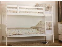 ***Brand New HIGH QUALITY Bunk Bed 3ft CAN SPLIT INTO TWO SINDLE BEDS GREY or WHITE ***