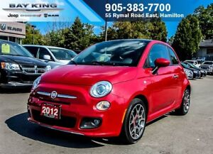 2012 Fiat 500 SPORT, SUNROOF, BLUETOOTH, AC, POWER LOCKS/WINOWS