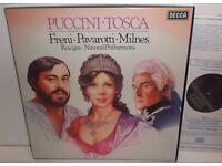 Puccini Tosca : Freni Pavarotti Milnes NPO Rescigno ( 2LP Box Set ) D134D 2 ( 1979 )