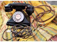 Authentic 1940s Bakelite telephone , excellent working order