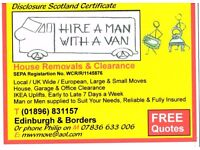 Hire a Man with a Van- Removals and Clearance service