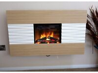 Wall mounted Dimplex electric fire.