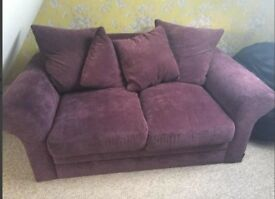 Gorgeous deep purple sofa for sale