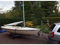 Wanderer Sailing Dinghy. Excellent condition but needs new mast.
