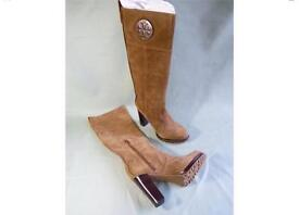 Ladies Tory burch Designer knee high suede boots -new in box size 8 US 10