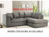 CHEAP SOFAS! Free Delivery!! Brand New Corner Couches Fabric Leather Foam Filled Settees