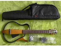 Yamaha Silent Guitar SLG-110N with original earphones, PSU & case