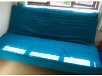 Ikea Beddinge double sofa bed, blue
