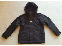 HELLY HANSEN HH BLACK WATERPROOF COAT JACKET 12 YEARS ADULT SMALL SCHOOL RAINCOAT BREATHABLE 38ins