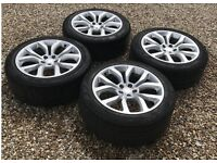 RANGE ROVER SPORT 21 SET OF ALLOY WHEELS AUTOBIOGRAPHY SILVER L494