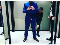 Men's blue suit tailored fit