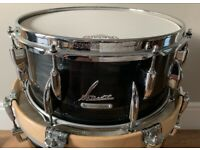 """Sonor Vintage Series 14""""x6.5"""" beech snare in Black Slate wrap with hardcase"""