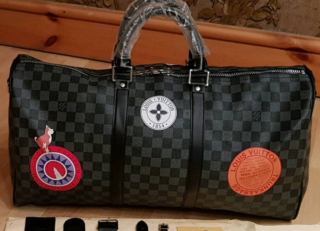 Louis Vuitton Lv 50cm Mens Duffle Bag Leather Designer Gym Travel Hold All