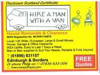 Hire a Man with a Van Removals & Clearance service FREE QUOTE