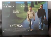 Rain Man iconic film poster, professionally heat-sealed to board