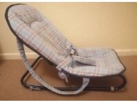 Mothercare baby rocker chair blue.