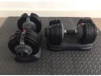 Adjustable Dumbbell set x 2 (2.5kg-32.5kg)