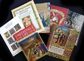 History illustrated Book Bundle: Medieval Themed: Manuscripts, Life, Chivalric, Saxon Chronicles....