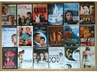 18 DVD Blue Jasmine / By the Sea / I am love / The dangerous Method / Night Mother / Live Flesh etc