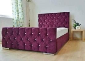 CLIFTON BED DOUBLE/KING SIZE WITH/WITH OUT ORTHOPAEDIC MATTRESS DIFFERENT FABRIC AND COLOURS
