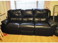 FREE- Large 3 Seater Reclining Sofa