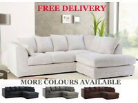 ** CHEAP SOFAS ** Quick Delivery Corner Sofas 3 + 2 Leather or Fabric High Quality Durable