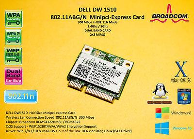 DELL DW1510 802.11ABG/N Broadcom BCM4322 BCM94322HM8L BCM94322 mPCIe Hackintosh