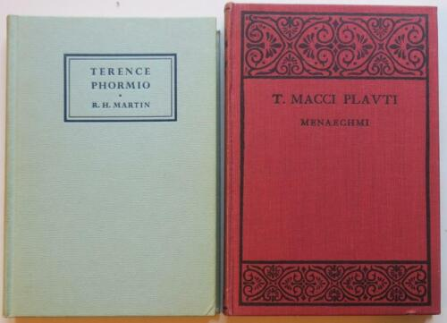 3 Books on Classical Latin Drama,Terence,Plautus Plays Essays on Tiberius Reign