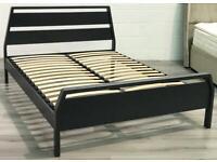⭐️MUST GO⭐️ Brand new! Kingsize grey wooden bed frame