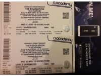 2 TICKETS FOR THE REVOLUTION (PRINCE'S BAND) SHEPHERD'S BUSH EMPIRE 13 FEB 2019 LEVEL 2 UNRESERVED