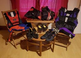 Bundle of Watersports Clothing, Boots & Unique Prototype O'Neill Vest