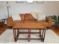 Mid-century G Plan Teak Coffee Table and Nesting Side Tables