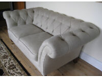 2 Laura Ashley 2-seater Chesterfield Sofas