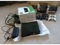 Xbox 360 250GB - 4 Controllers - 20 Games