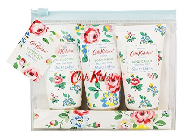 Cath Kidston Meadow Posy Cleanse and Soften Travel Pack Body Wash - Great Gift