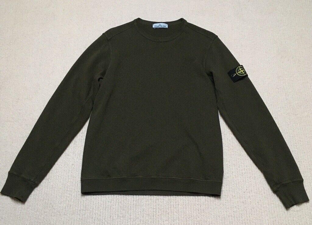 76412023dc3e Stone Island Olive Khaki Sweatshirt (Supreme