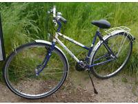 """Vintage Raleigh Gemini lady's town / hybrid bike, 18.5"""" Reynolds 531 frame, 21 gears, 700c wheels"""
