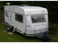 2004 HYMER Nova 470, 2 berth caravan with motormover and porch awning