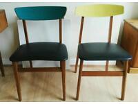 Stunning Retro Dining Chairs/Wooden Chairs x2