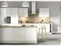 7 Piece Kitchen Units - White Gloss Handleless - BRAND NEW